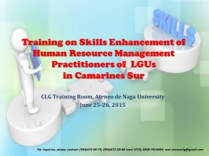 Training on Skills Enhancement of HRM Practitioners-faci