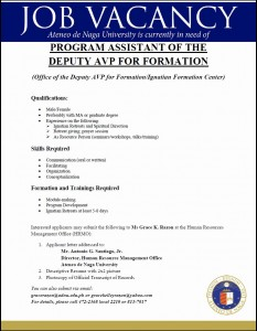 program assistant of the  davp formation
