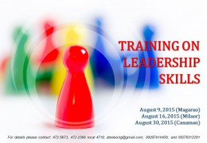 Training on Leadership Skills for the Youth-poster