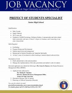 prefect of students specialist-SHS